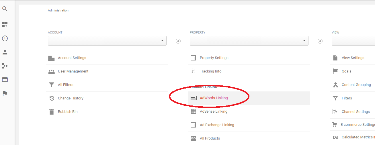 adwords to analytics linking