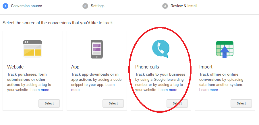 adwords call tracking setup 1