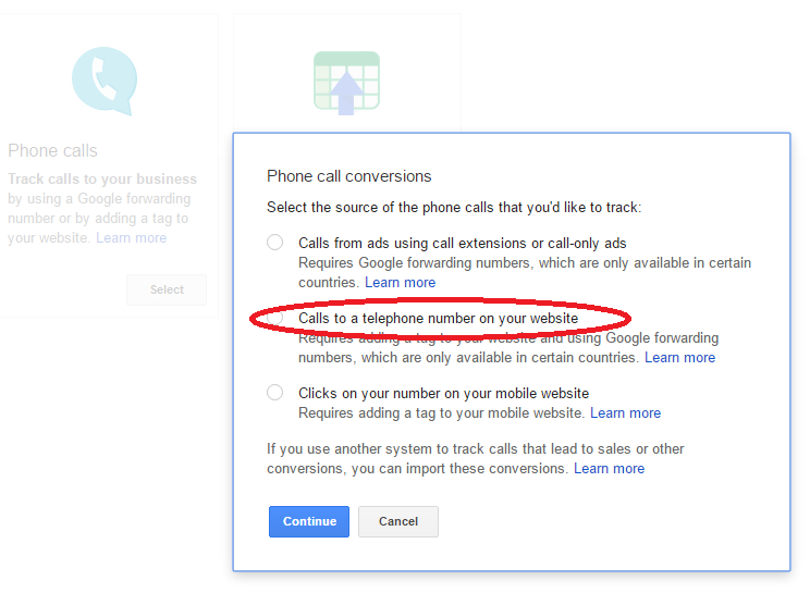 adwords call tracking setup 2